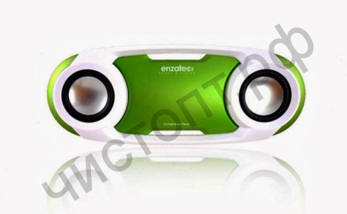 Портативная колонка Enzatec SP509GR зелёный, SD/USB, FM-радио, стерео, вход 3,5  (SP509GR)