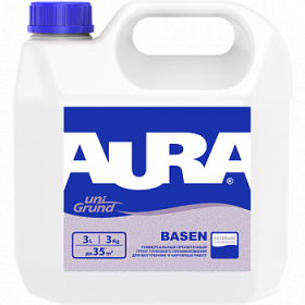 Универсальный Грунт Глубокого Проникновения Aura 5л Unigrund Basen для Наружных и Внутренних Работ