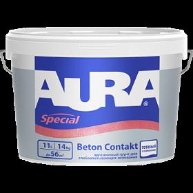 Адгезионный Грунт Aura 4кг Special Beton Contakt для Слабо Впитывающих Оснований