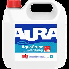 Грунт Глубокого Проникновения Aura 1л Koncentrat Aqua Grund Влагозащитный для Внутренних и Наружных Работ Концентрат