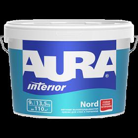 Высокоукрывистая Краска Aura 4.5л Interior Nord Матовая для Стен и Потолков