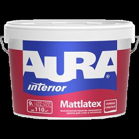Высококачественная Моющаяся Краска Aura 0.9л Interior Mattlatex для Стен и Потолков