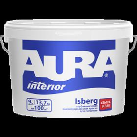 Высокоукрывистая Краска Aura 2.7л Interior Isberg Глубокоматовая Ультрабелая для Потолков