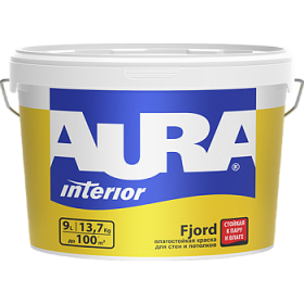 Влагостойкая Краска Aura 15л Interior Fjord для Стен и Потолков