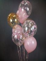 Композиция из шариков с гелием розовое облако
