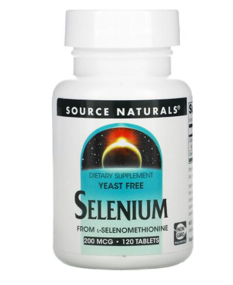 Source Naturals Selenium 200 мкг 120 табл