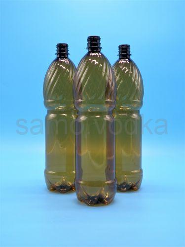 Бутылка пэт 1,5 л темная с крышкой