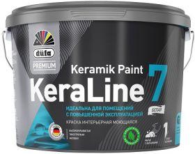 Краска для Стен и Потолков Моющаяся Dufa Premium KeraLine 7 Keramik Paint 0.9л Матовая / Дюфа Премиум Кералайн 7 Керамик Пейнт