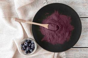 Ягоды асаи порошок (250гр) насыщенный фиолетовый краситель