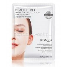 Оригинал BIOAQUA Beautecret Peptide Skin Secret Collagen гидрогелевая