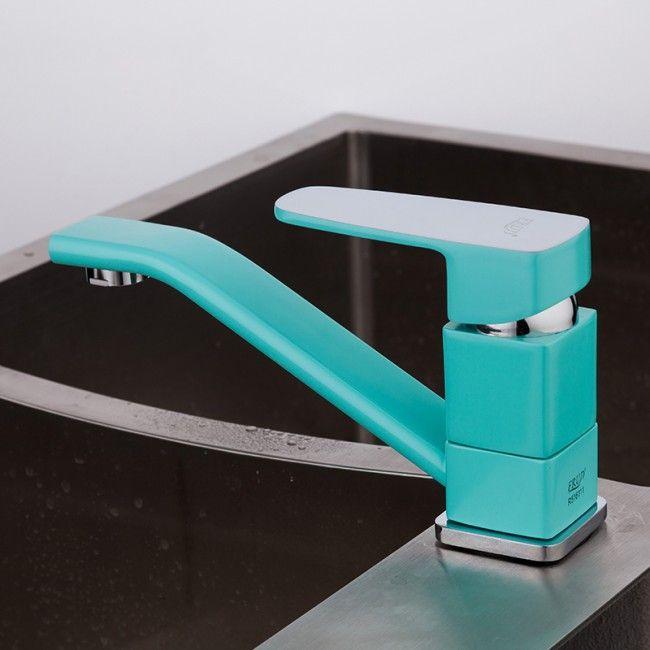 Смеситель для кухни Frud R45303 Бирюзовый