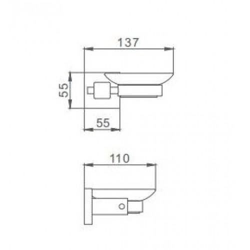 Мыльница настенная Frap F30302 Квадрат