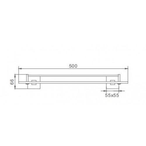 Квадратная полка для ванной Frap F30307