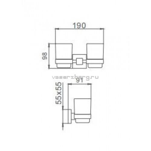 Стакан для зубных щеток Frap F30308 Квадрат