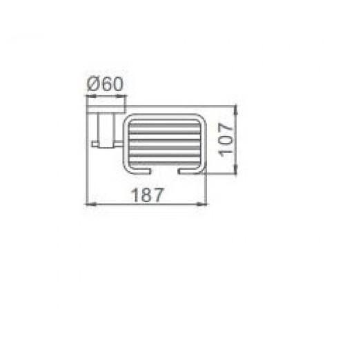 Мыльница настенная Frap F30202