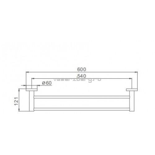 Двойной полотенцедержатель Frap F30109 Сатин