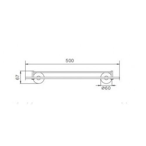 Полка для ванной Frap F30107 Сатин
