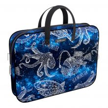 Портфель А4+ ErichKrause ткань Magic Sea World синий 49105