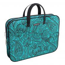 Портфель А4+ ErichKrause ткань Paisley Style бирюзовый 49095