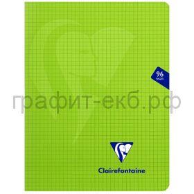 Тетрадь А4 48л.кл.Clairefontaine Mimesys зеленая ластик.обложка 132162С_green