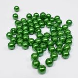 Бусина жемчужная пластик 8мм 100 зеленый