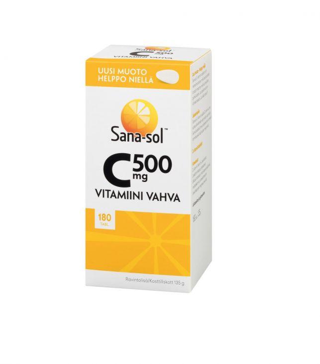 Sana-Sol vitamin C 500 mg 180 tabl