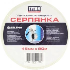 Лента Самоклеящаяся Серпянка Tytan Professional 45мм х 45м для Заделки и Армирования Трещин / Титан Серпянка