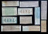 37 купонов от облигаций и акций царского периода. Железные дороги. Все разные.