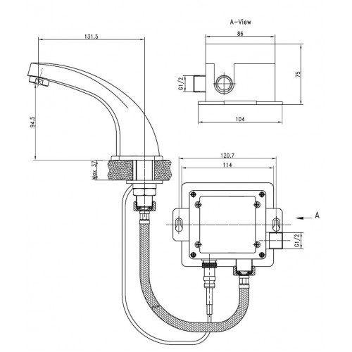Kaiser Sensor 38111 Смеситель для раковины сенсорный