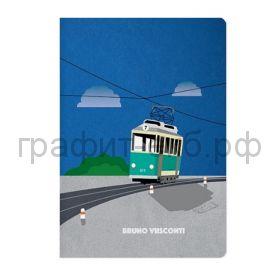 Тетрадь А5 40л.кл.BrunoVisconti Трамвайчик 7-40-001/72