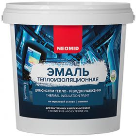 Эмаль Теплоизоляционная Neomid 10л Белая для Металла и Минеральных Оснований, Внутренних и Наружных Работ / Неомид Теплоизоляция