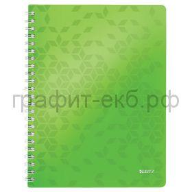 Тетрадь А4 80л.кл.Leitz WOW зеленый 46380064/54