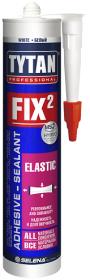 Клей-Герметик Tytan Professional Fix2 Elastic 290мл Белый, Универсальный, Эластичный / Титан Профессионал