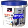 Краска Фасадная Структурная VGT Protector Pro 7кг Зерно 0.5-1мм для Внутренних и Наружных Работ / ВГТ Протектор Про