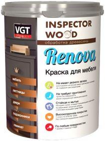 Краска для Мебели Полиуретановая VGT Renova 1кг для Окрашивания Столов, Стульев, Кроватей / ВГТ Ренова