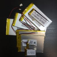 Аккумулятор технический универсальный (3.7 V/2500 mAh) (3 мм х 60 мм х 65 мм)