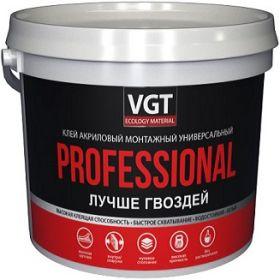 Клей Монтажный VGT Professional 0.8кг Белый, Акриловый, Универсальный