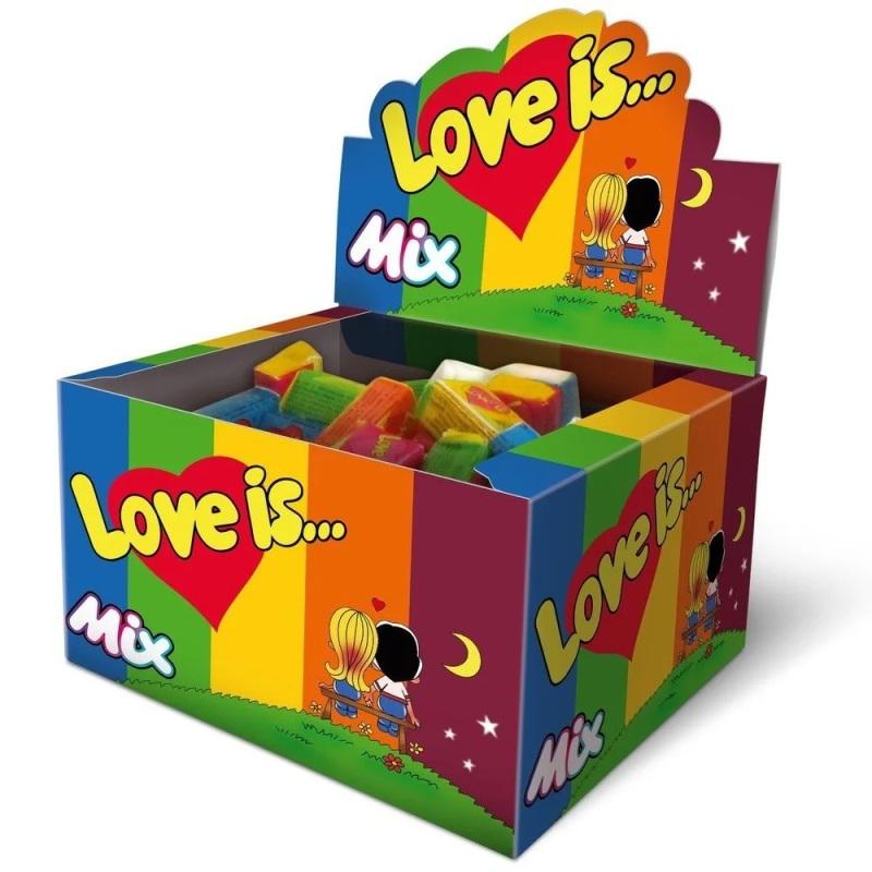Жевательная резинка Love is MIX 100 шт. (1 блок)