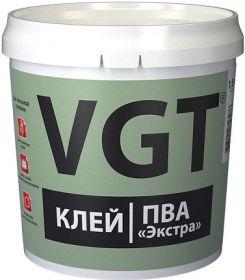 Клей ПВА Экстра VGT 1кг Сверхпрочный / ВГТ Экстра