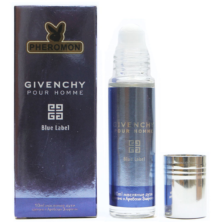 Масляные духи с феромонами Givenchy Pour Homm Blue Label 10ml