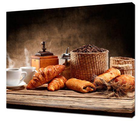 Картина на холсте Завтрак с круасанами