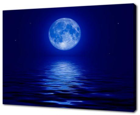 Картина на холсте Луна на море
