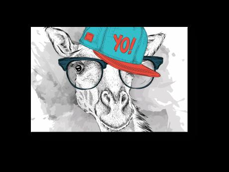 Картина на холсте Четкий жираф