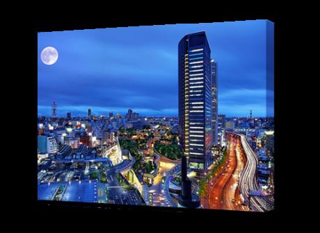 Картина на холсте Ночной мегаполис