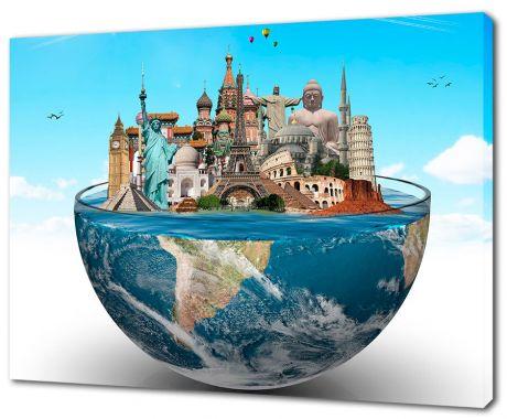 Картина на холсте Достопримечательности мира