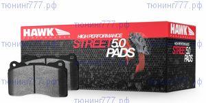 Колодки тормозные HAWK Performance HPS 5.0 (B), передние