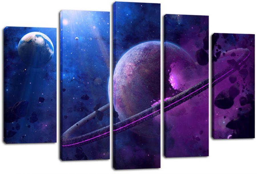 Модульная картина Космос 11