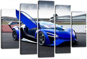Модульная картина Синий спорткар