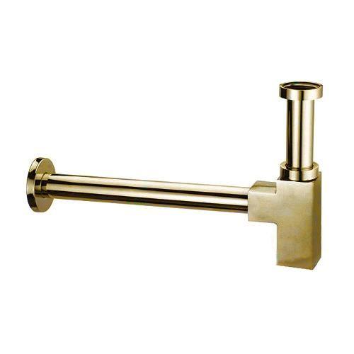 Сифон Kaiser 958К-Gold для раковины квадратный без выпуска (золото)