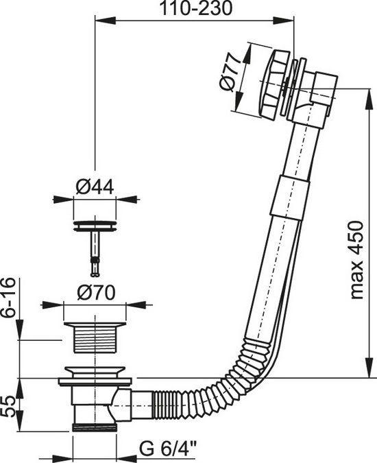 Обвязка для ванны KAISER 8004 An бронза автомат